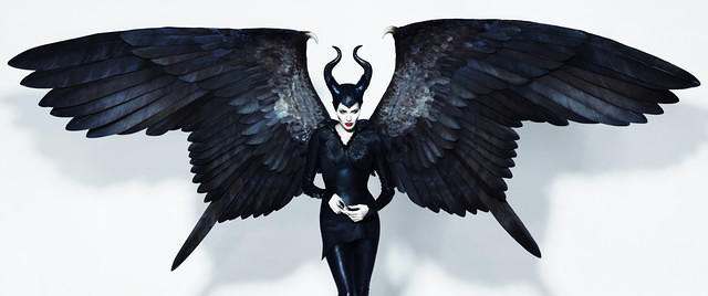 Angelina Jolie as Maleficent 3440x1440